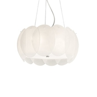 Lustr Ideal Lux Ovalino SP5 bianco